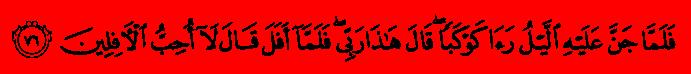 Sourat Al-An'am - Les Bestioles 76